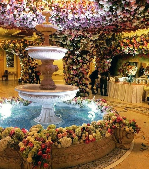 Fairytale wedding: But Ingushetia is one of the poorest regions of Russia, and commenter Marina Baryshnikova complained, 'It would have been better if they helped those in need, the country is collapsing, there are no jobs, people are poor. This is a feast at a time of plague.'
