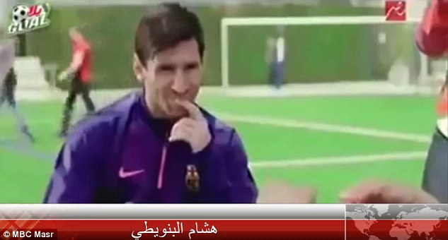 Messi was appearing on the show'Yes I am Famous' last Saturday on Egyptian TV channel MBC Masr