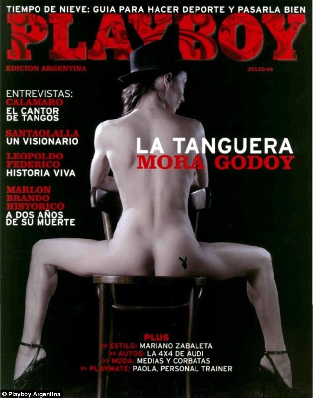 Mr Godoy is one of the most renowned dancers in South America and appeared on the July 2006 cover of Playboy (above)