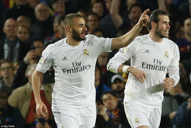 French strike Benzema celebrates his 21st La Liga goal of the season to leave both sides level heading into the final 30 minutes of the tie