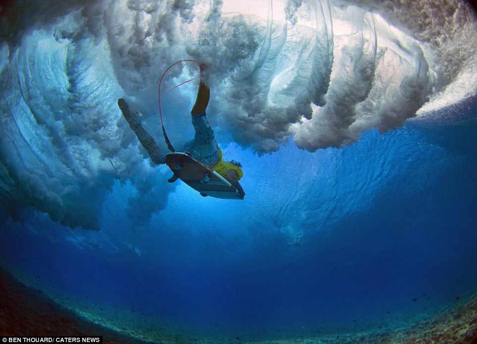 The water off the coast of Tahiti is known for being particularly clear, offering the perfect opportunity for underwater photography