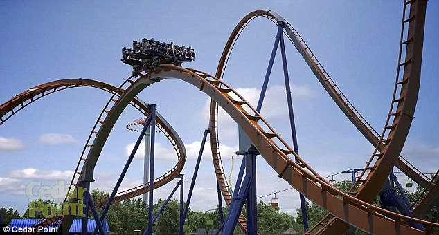 With stomach-churning twists and turns, Valravn will set 10 world records when it goes into service at the second-largest park in the US
