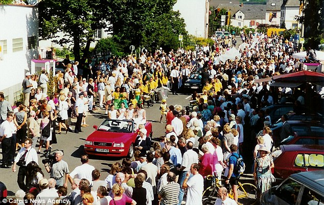 Hundreds lined the streets as King Bansah and Gabriele enjoyed a royal wedding 16 years ago
