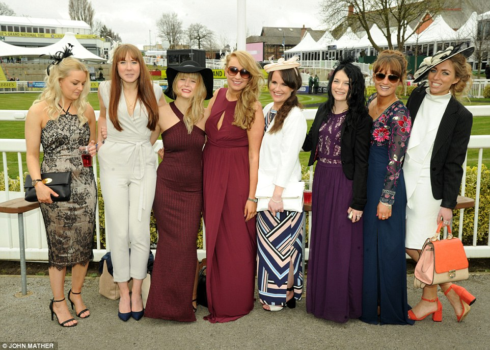 A group of friends were all dressed to impress for their day at the iconic racecourse