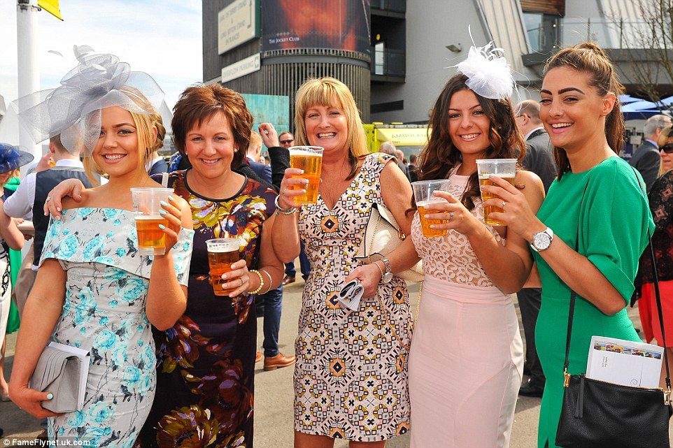 A party of five treated themselves to pints of beer in celebration of the big day