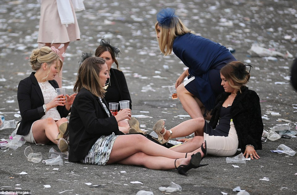 It was the second day today, known as Fabulous Friday and Ladies Day, as part of the three-day Grand National Festival at the course