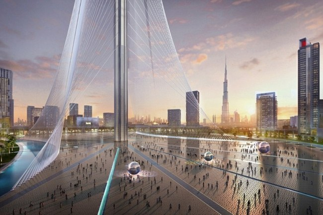 Unlike the Burj Khalifa, the new $1 billion tower will not be a traditional skyscraper but more of a cable-supported spire