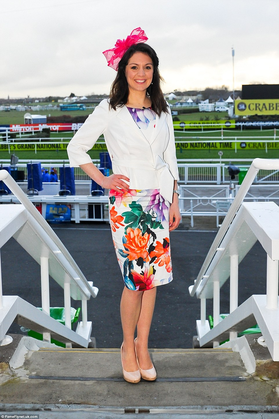 Good Morning Britain's weather girl Laura Tobin at day two of the Aintree Festival in Merseyside
