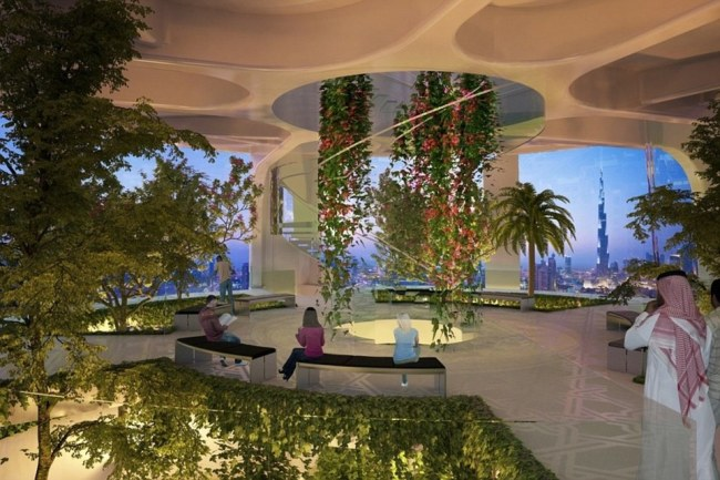 The tower will be decked with rotating balconies and elevated landscaping, inspired by the mythical hanging gardens of Babylon