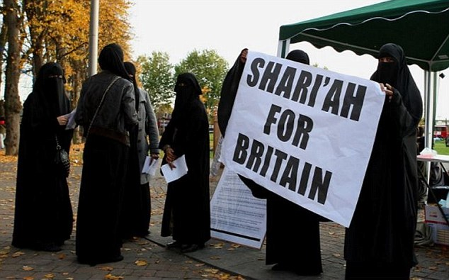 A new survey on Muslim attitudes in the UK showed many oppose gay marriage and support bigamy (file picture)