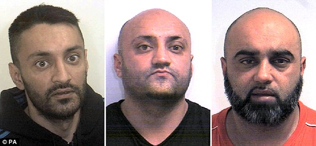 He pointed to the 'contempt for white girls' shown by some Muslim men that was highlighted by the recent sexual grooming scandals in Rotherham, Oxford, Rochdale and other towns.Brothers Arshid (left), 40, Basharat Hussain (middle), 39, and Bannaras Hussain (right) raped young girls in Rotherham