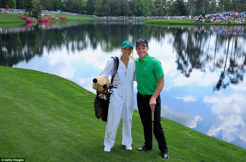Danny Willett pictured with wife Nicole at last year's Par 3 contest before the 2015 Masters, his debut at Augusta
