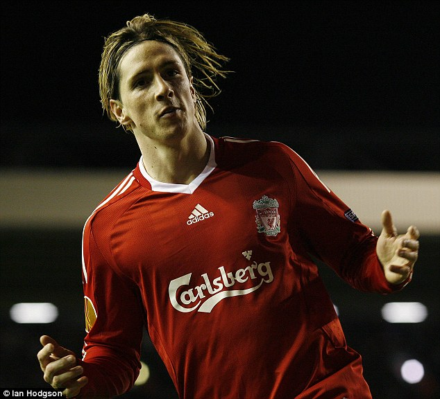 Fernando Torres helped Liverpool to a famous 4-1 win over Benfica in the Europa League at Anfield in 2010