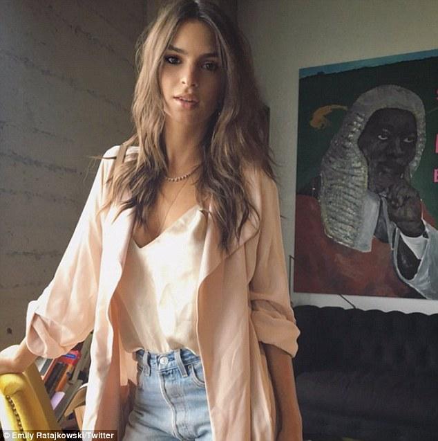 Emily Ratajkowski Shares Sexy Instagram Photo In Slim