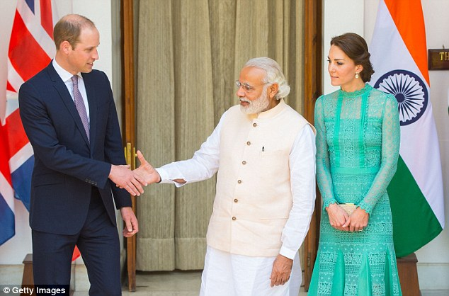 The meeting with Mr Modi and senior figures in his government was a last-minute addition to the royal tour