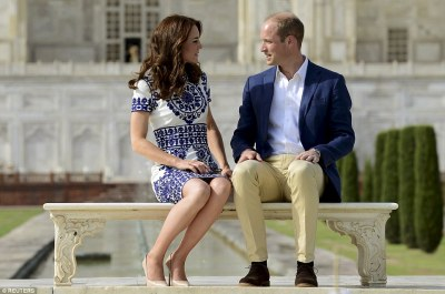 Diana was famously photographed alone on this marble bench but the image of William and Kate, sat together, will forge new memories of the iconic building for the couple