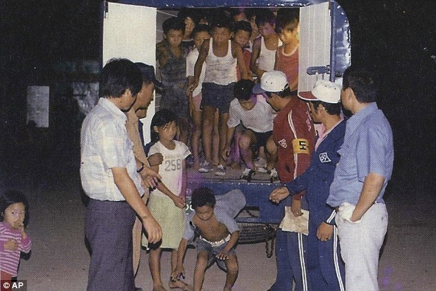 Thousands of children and the disabled were rounded up off the streets (pictured) ahead of the 1988 Seoul Olympics and sent to camps such as the Brothers Home  in Busan, South Korea