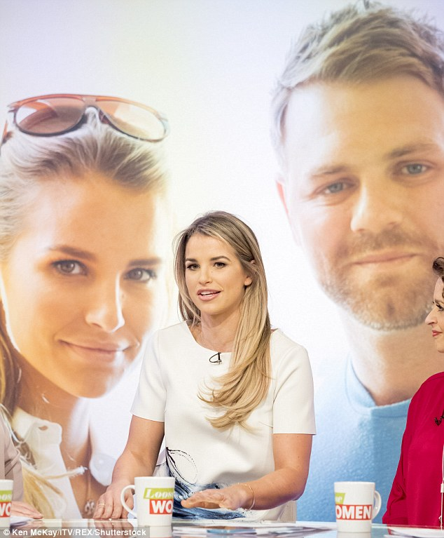 Fears: Vogue Williams, 30, revealed her fear that if her ex-husband Brian McFadden, 36, moves on, his new girlfriend might not let the former flames hang out