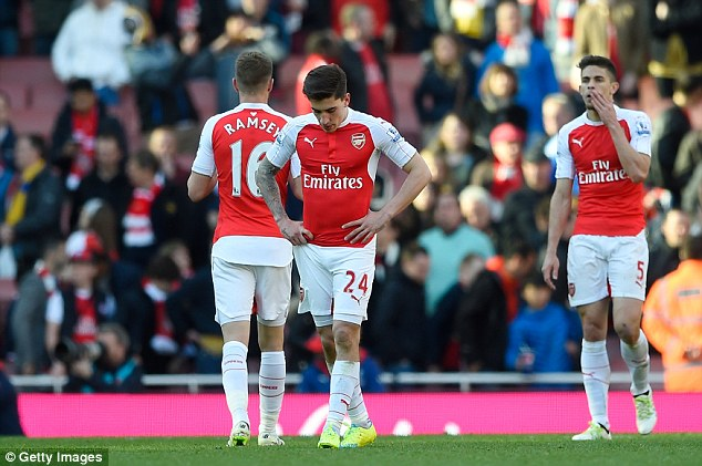 Arsenal were leading the Premier League at the turn of the year but have seen their title challenge fall apart
