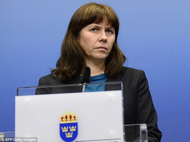 Controversial comments: Sweden's Deputy Prime Minister Asa Romson, 44, referred to the 9/11 terrorist attacks as 'The 11 September accidents'