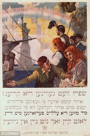 Yiddish is is written in an alphabet based on Hebrew characters. This US World War One poster is written in Yiddish and begins 'Food will win the war'