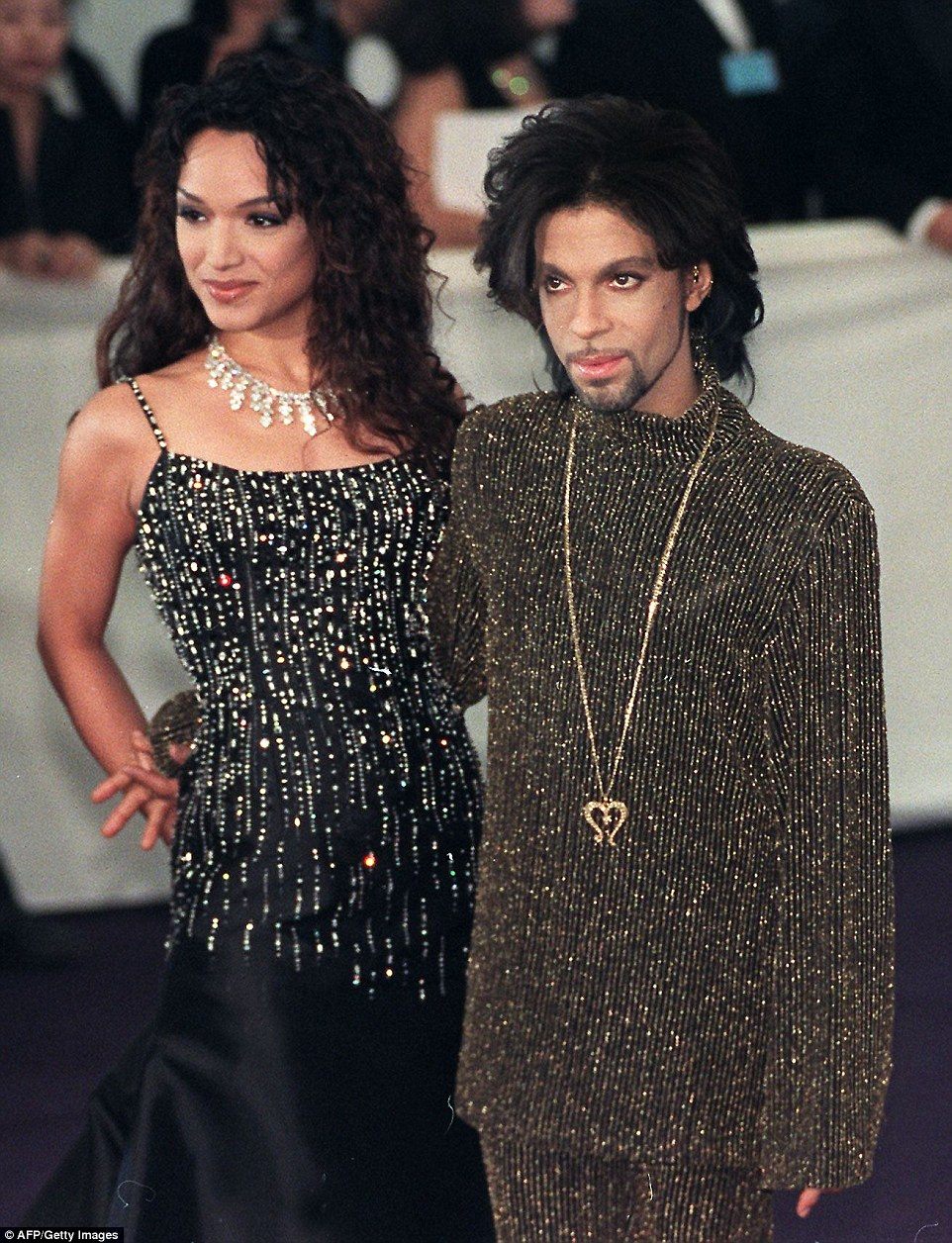 Prince married backup dance Mayte Garcia (pictured together in 1999) on Valentine's Day in 1996. He dedicated the song the Most Beautiful Girl in the World to her two years earlier