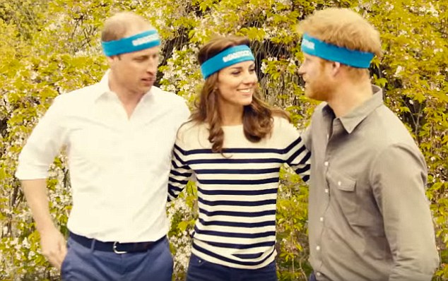 Earlier today, a video was released of the the Prince with his brother the Duke of Cambridge and his wife Duchess wearing blue headbands in support of those running the marathon for the Heads Together Campaign