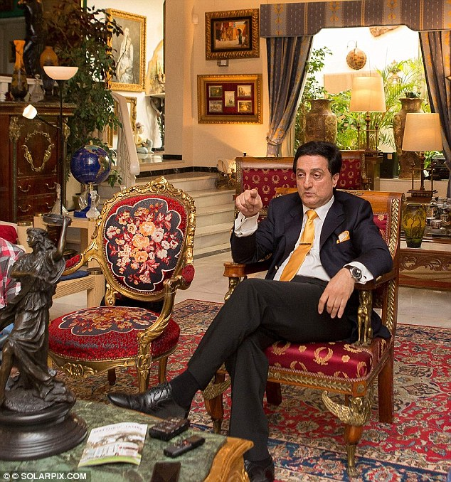 Speaking shortly after his release on bail from the sumptuous living room of his rented £6,500-a-month palace in Marbella, the Iranian-born tycoon said: 'The idea I had a harem is madness