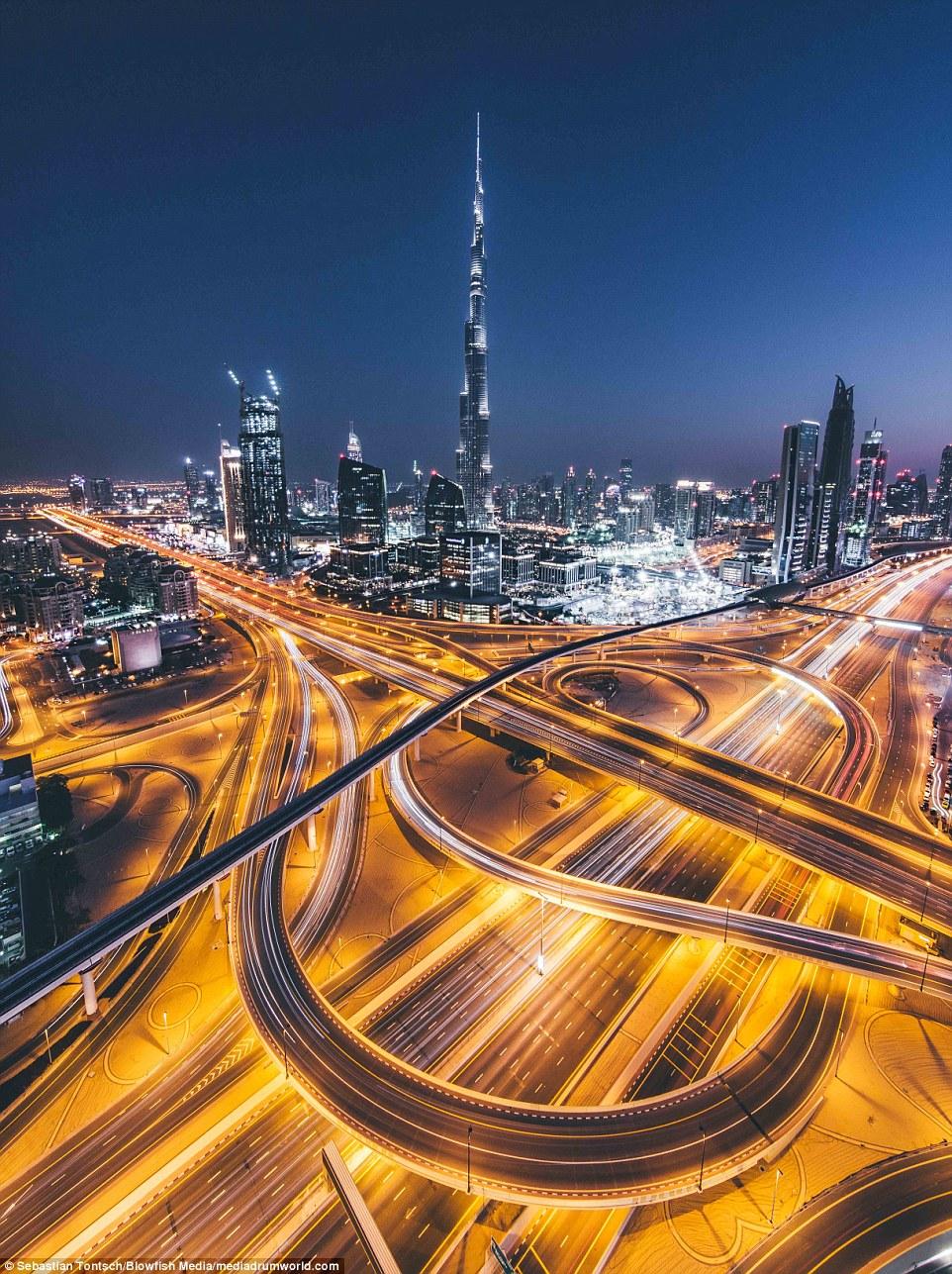 Burj Khalifa Shown In Stunning Photos Of Dubai Above The