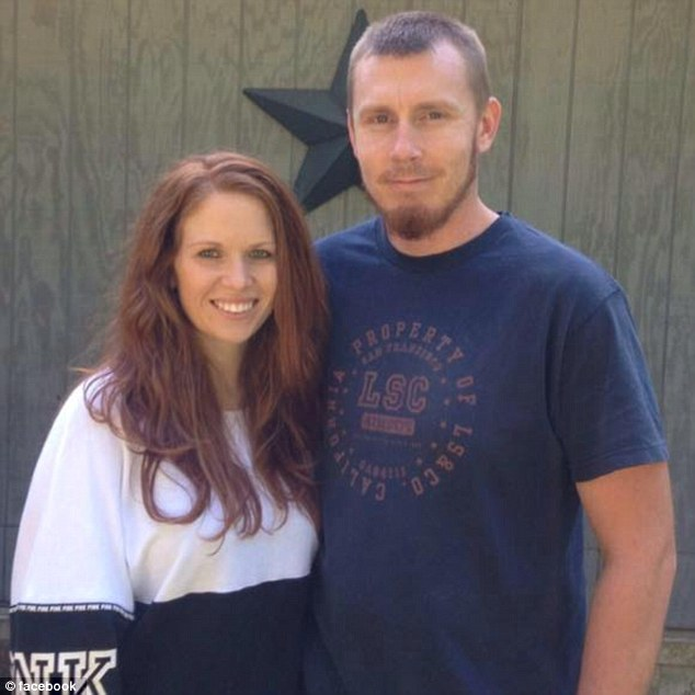 Joseph Jones (right) was arrested on Saturday, a day after his wife Rachel's (left) dead body was found at the bottom of a well