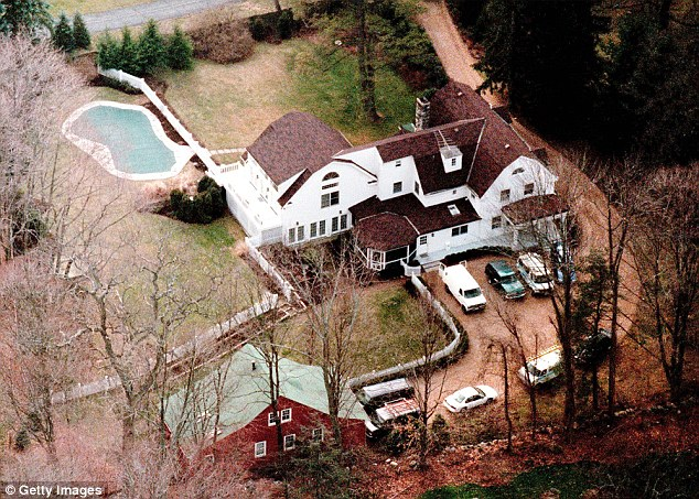The Clintons' Chappaqua, New York digs - photographed here soon after they bought it in 2000, when President Clinton was still in the White house - featured a number of out buildings including a pool