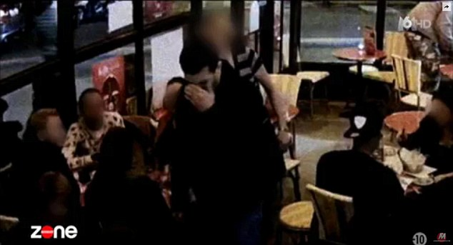 Abdeslam's elder brother Brahim, with whom he used to run a bar in the Brussels district of Molenbeek, was among the Paris suicide bombers, blowing himself up at a cafe (pictured)