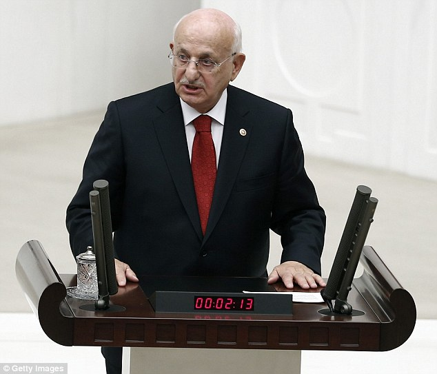 Against the state: Parliamentary Speaker Ismail Kahraman said Monday that Turkey needed a Muslim constitution, a proposal which contradicts the Turkish republic's founding principles
