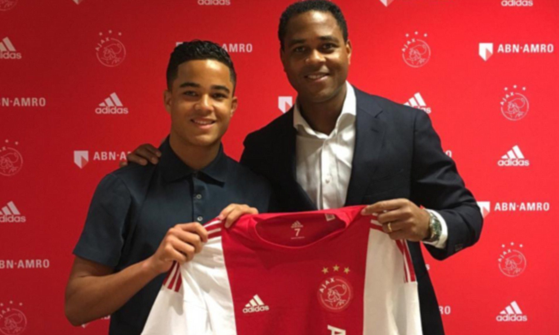 Patrick Kluivert's son Justin follows in his father's footsteps | Daily Mail Online