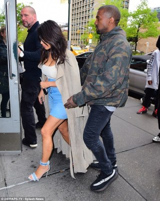 Ready to rock on Monday:The couple is in NYC for the annual Met Gala in which stars are paired with fashion designers