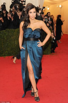 The one that made the carpet: The 35-year-old swapped out the beige dress for this blue one at the last minute