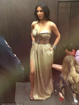 This is the first time we're seeing this gown: Kim Kardashian said on Monday that she almost wore this gown to the Met Gala in 2014