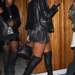 EJ Johnson Step Out In Fringe Leather Shorts