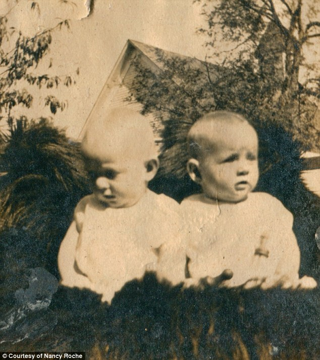 At the start: The sisters, who are still known as 'The Wallace Twins',were born in their hometown of Symsonia, Kentucky, on March 25, 1916 in the midst of World War I. Mary and Mae Belle are pictured as babies