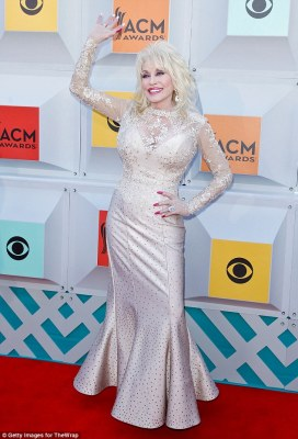 Big plans: Dolly Parton - pictured in Las Vegas last month - recently opened up to People about her 50th anniversary plans