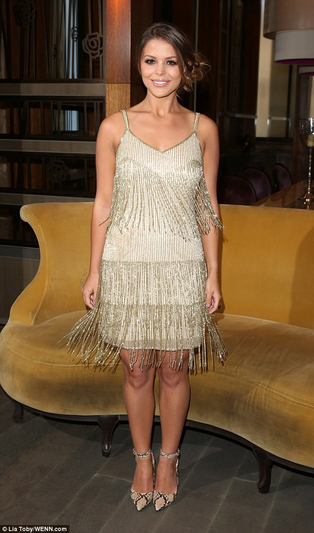TOWIE star Chloe Lewis channels 1920s chic in gold flapper ...