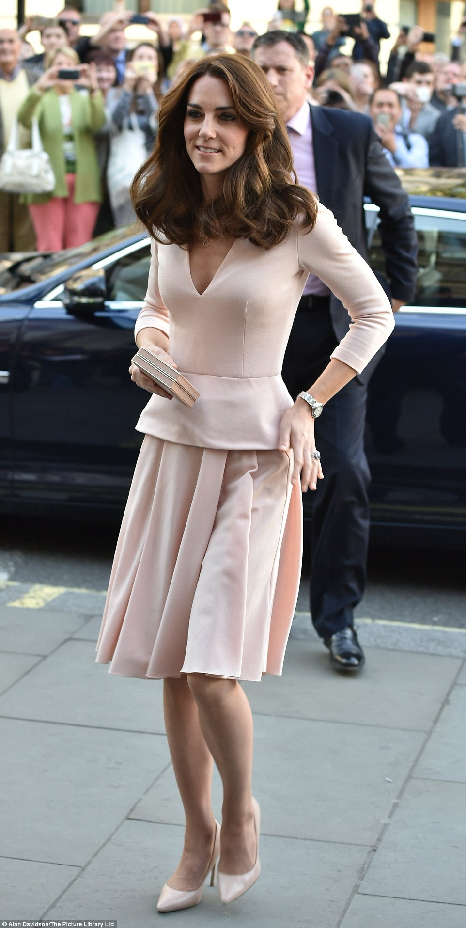 Kate Middleton Picks Head To Toe Pastels As She Attends