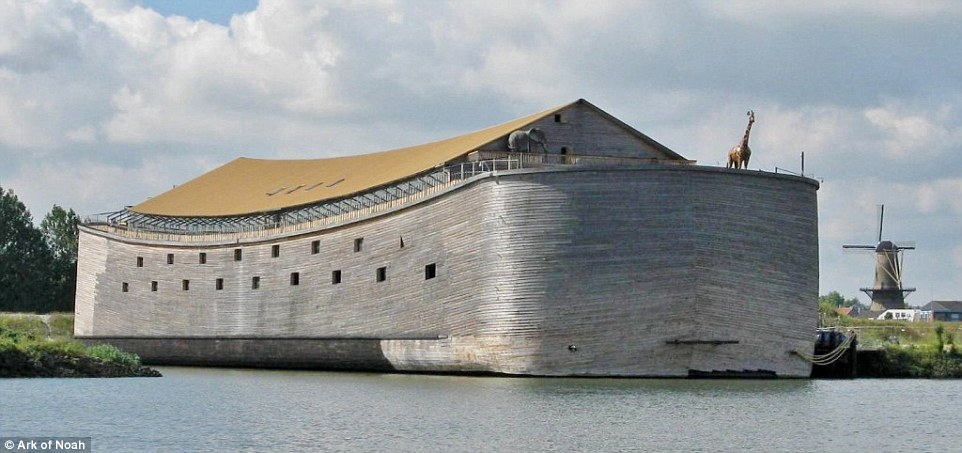 The Dutch carpenter who creted the life-sized replica of Noah's Ark six years ago now wants to sail the vast vessel all the way to Israel