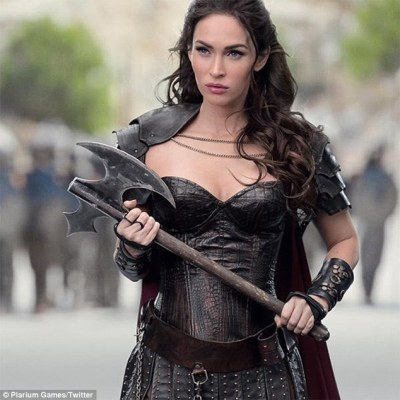 'She's just a general bad a**': Megan Fox, 29, is thrilled as she stars as Amelia Delthanis in mobile game Stormfall: Rise of Balur
