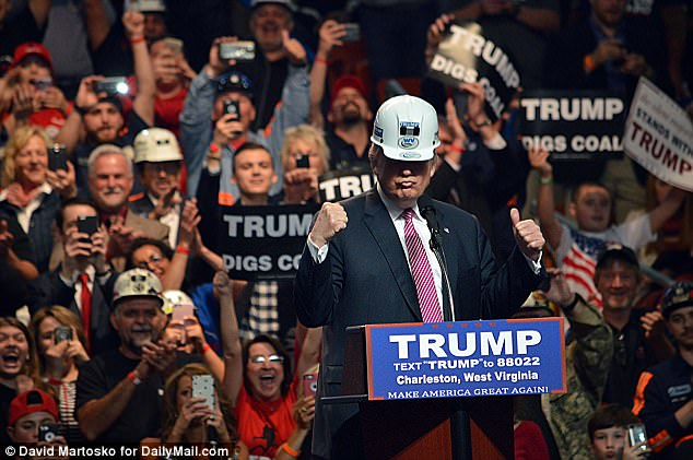 Image result for Images of Trump and mining progress