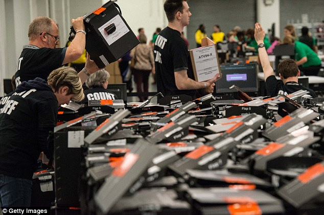 Workers at the London Mayoral count in Kensington today began the process of opening the boxes and beginning the count to find out the winner