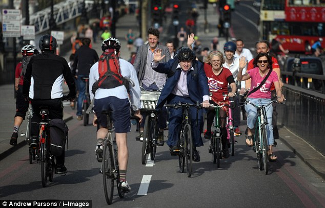 In his final hours as Mayor today, Boris Johnson officially opened the huge new cycle routes across London - a project Mr Johnson has admitted was his toughest achievement