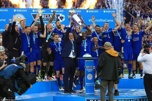 Leicester were 5,000/1 to win the Premier League at the start of the season but led the way at the top for almost the entire campaign