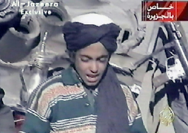 Hamza bin Laden (pictured in 2001), son of Al-Qaeda's late founder Osama bin Laden, has urged jihadists in Syria to unite in an audio message posted online