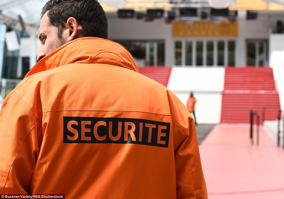 Prepared: ast month elite police forces staged a simulated terror attack at the Palais des Festivals, the venue for the main screenings